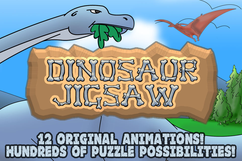 Screenshot Dinosaur JigSaw Puzzles &#8211; Animated Puzzle fun for Kids with Cartoon Dinosaurs &#8211; by Apps Kids Love, LLC